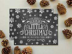 Chalkboard Christmas Card Vintage Chalkboard by BanterandCharm, $52.00