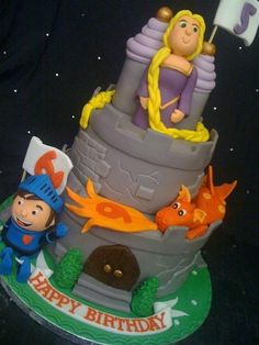 Dragons and Princesses and Knights, oh my! Cake by Amber Catering and Cakes