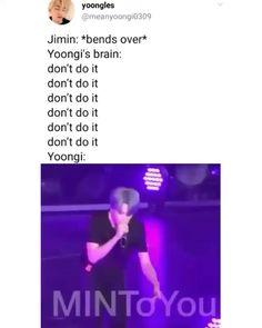 of suga of course, so dirty minded Yoonmin, Bts Memes, K Pop, Got7 Bambam, Bts Bangtan Boy, Bts Jimin, Kpop Gifs, Saranghae, Bts Love