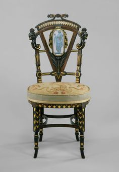 Side Chair - Attributed to Pottier and Stymus Manufacturing Company (active ca. 1875 Made in New York, - Walnut, mahogany, rosewood, cedar