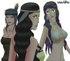Ayasha, Kaliska, Chayton by JeremyNdjock.deviantart.com on @DeviantArt