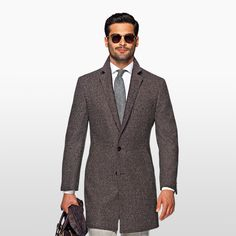 Daily pick: The burgundy overcoat.