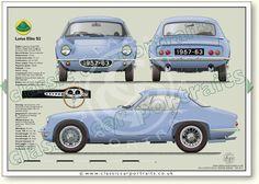 Lotus Elite 1957-63 classic car portrait print