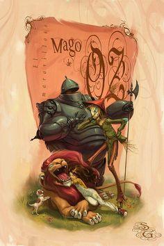 Versión del Mago de Oz, estoy buscando al artista en Deviantart, pero no lo encuentro.