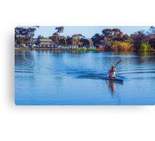 Solitary Springtime Rowing on Lake Weeroona Canvas Print