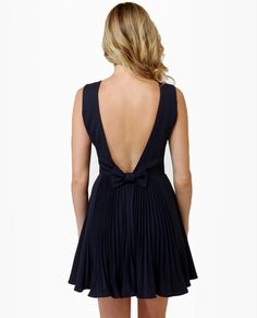 Los Low-Bows Navy Blue Dress   love the back