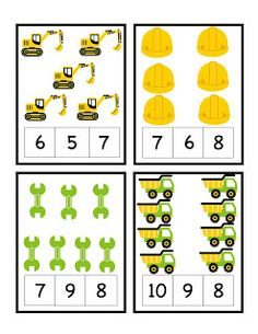 Preschool Printables: Construction Zone Printable More