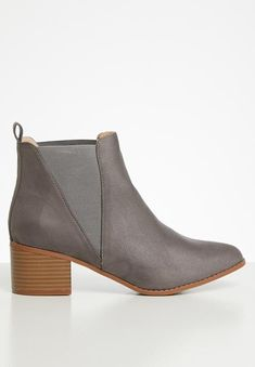 Meghan chelsea boot - grey Superbalist Boots | Superbalist.com Toe Shape, Block Heels, Chelsea Boots, Two By Two, Footwear, Booty, Ankle, Grey, How To Wear