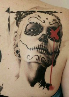 Cool day of the dead tattoo.