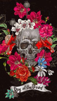 20 Best Ideas For Tattoo Hip Bone Sugar Skull Cute Wallpapers, Wallpaper Backgrounds, Iphone Wallpaper, Cigar Box Crafts, Sugar Skull Art, Sugar Skulls, Skull Wallpaper, Rose Wallpaper, Day Of The Dead Skull