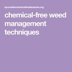 chemical-free weed management techniques