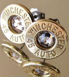 45 AUTO Winchester FREE SHIPPING Earrings Choice Swarovski