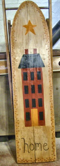 Country Lane Crafts and Antiques: Saltbox houses Ironing Board