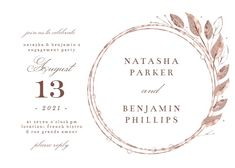 Rose Gold Geometric Floral Frames - Engagement Party Invitation #invitations #printable #diy #template #Engagement #party #wedding