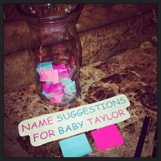 oh ths is cute.. i still am deciding on the girl name Gender reveal party ideas