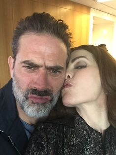 The last day of filming THE GOOD WIFE - Jeffrey Dean Morgan and Julianna Margulies