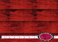 RED BARN WOOD FABRIC by the YARD, FAT QUARTER, OR HALF YARD - You Choose - RED WOOD Fabric - More yardage usually available by using the drop down