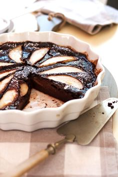 Pear Chocolate Clafoutis