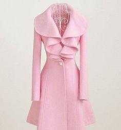 flounced Woolen coat