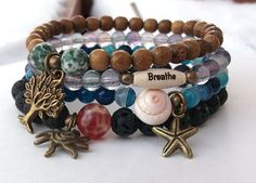 Earth Fire Water Air  Elements Bracelet Tree by BlueStoneRiver, $39.95
