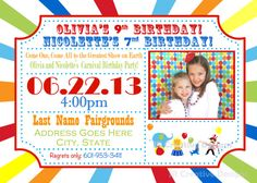Circus Invitation Carnival Invite Circus by JRCreativeDesigns