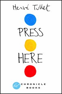 Press Here is based on Hervé Tullet's book and includes simple, artful, intuitive games for people of all ages.