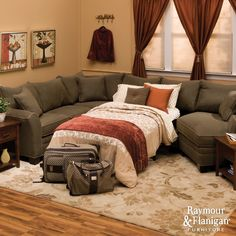 Foresthill Sectional Sofa | If you need more seating on a regular basis than a sleeper sofa offers, consider a sectional!