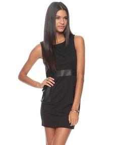 $13.99 Mod Dress w/ Leatherette Appliqu´ | FOREVER21 - 2087532658