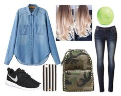 """""""another tipical day in school :("""" by littlesadcat ❤ liked on Polyvore featuring Chicnova Fashion, NIKE, Valentino, Henri Bendel and Eos"""