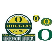 Oregon Ducks Game Day 4-Piece Magnet Set, Multicolor