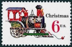 Our US Post Office Stamps chronicle the history of the American postal service. Christmas Train, Christmas Art, All Things Christmas, Vintage Christmas, Office Stamps, Nostalgic Candy, Commemorative Stamps, Old Stamps, Postage Stamp Art