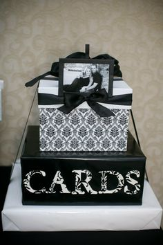 graduation card box homemade | The show stopping wedding cake – partially designed by Keri (she is ...