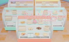 """pixelsimdreams: """"♦⁴ Baker's Display Case RecolorsRecolored these displays today in 10 of my pastel colors including white. Sims 4 Cc Kids Clothing, Sims 4 Mods Clothes, Maxis, Sims 4 Restaurant, Sims 4 Kitchen, Sims 4 Anime, Sims 4 Cc Furniture, Pink Furniture, The Sims 4 Packs"""