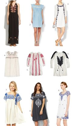 Trend Crush: Embroiderey Dresses
