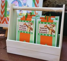 Tigger birthday party favors! See more party planning ideas at CatchMyParty.com!