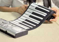 Flexible Roll Up Synthesizer Keyboard Piano with Soft Keys =====> Practice your piano skills or your children's skills anywhere, anytime, time with this Flexible Roll Up Synthesizer Keyboard Piano. Compact with many added functions, this keyboard Piano will go with you anywhere, anytime! These keys are designed using Silicon rubber, which allows you to neatly fold it away and store in your cupboard without damage.