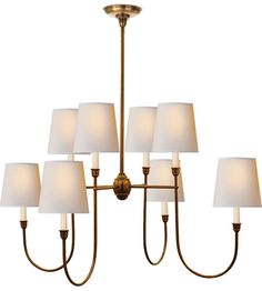Visual Comfort Thomas OBrien Vendome 8 Light Chandelier in Hand-Rubbed Antique Brass TOB5008HAB-NP #visualcomfort #lightingnewyork #lighting