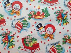 Vintage Christmas Wrapping Paper  Joy by TheGOOSEandTheHOUND