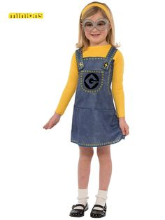 Girls Minion Costume | Wholesale TV and Movie Costumes for Girls