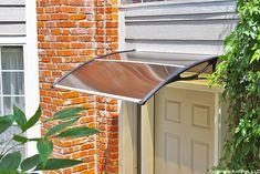 PC900 Series Economy Door Canopy - Clear Sheet, Black Brackets