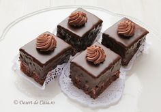 Amandine Sweets Recipes, Cake Recipes, Cooking Recipes, Good Food, Yummy Food, Romanian Food, Food Cakes, Chocolate Lovers, Desert Recipes