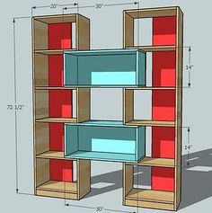 built-in bookshelf. nice dimensions and doors. how to raise up on