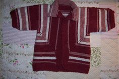 Baby Surprise Jacket (made for Mary Flynn) - EZ's pattern  -- VERY FUN to stitch . . . check out videos on YouTube for help