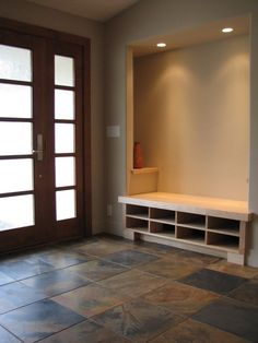 beautiful entryway in Japanese house of shelves | Home on the ...