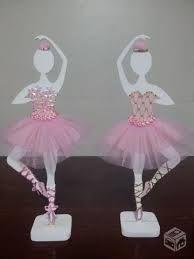 Resultado de imagen para centro de mesa bailarina em eva