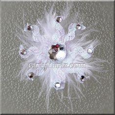 Sparkly Snowflake Hair Clip