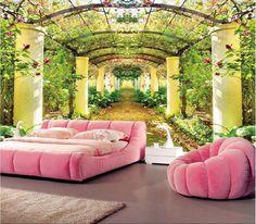 Custom photo wallpaper 3D stereoscopic 3D Beautiful garden of Eden room TV background 3d mural wallpaper papel de parede
