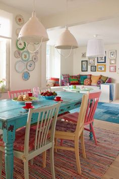 Nice colorful kitchen