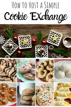 These tips on How to Host a Simple Cookie Exchange will have you looking forward to a stress-free Christmas cookie season! Cookie Exchange Party, Christmas Cookie Exchange, Christmas Desserts, Christmas Treats, Christmas Parties, Winter Parties, Holiday Foods, Holiday Themes, Holiday Crafts