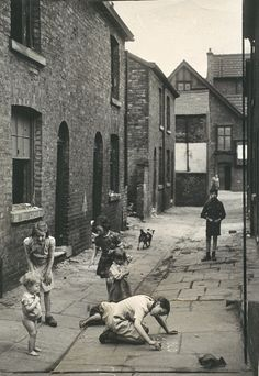 Children play in slum housing area in Hulme, Manchester, 4 July 1946, White, Daily Herald Archive, National Media Museum Collection / SSPL